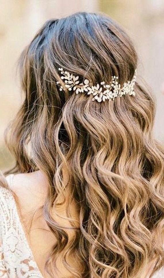 Bridal hair piece Bridal hair vine Bridal Hair Accessories Wedding Hair Accessories Silver Wedding hair piece Rose gold Bridal hair vine