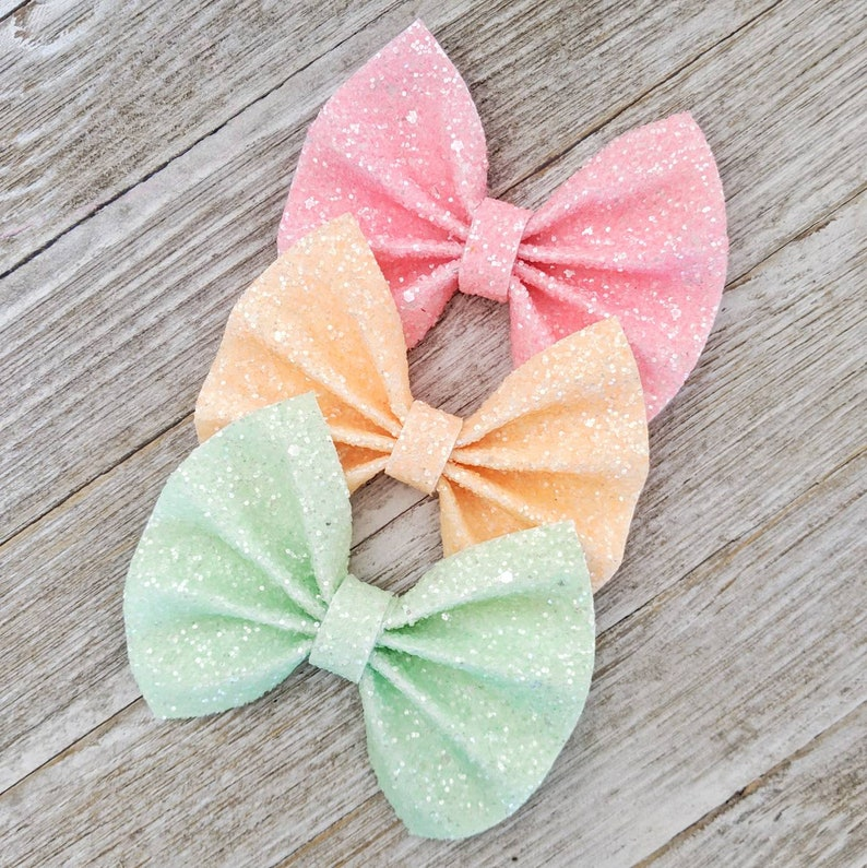 Matte glitter bows