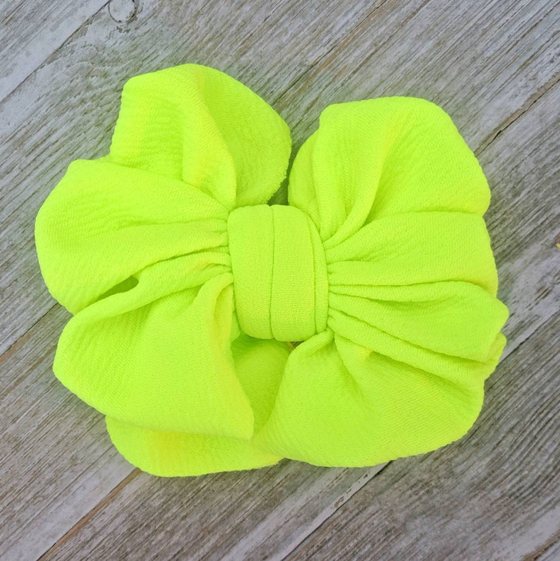 Neon messy bows