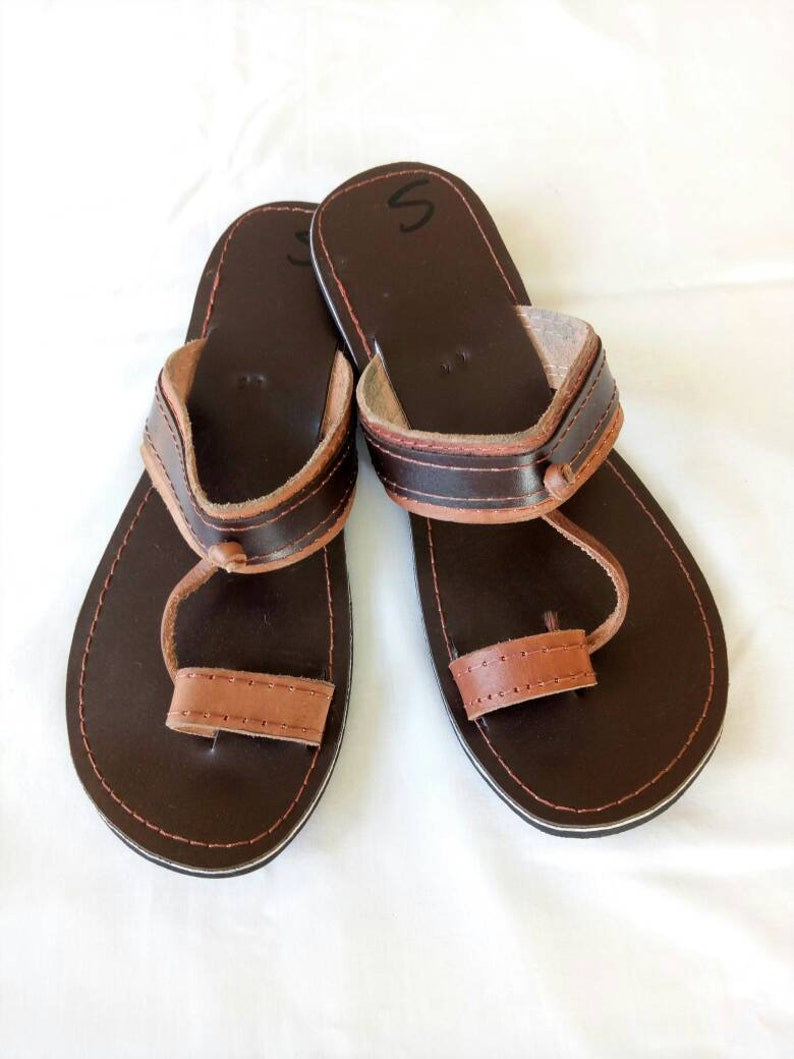 3f6471116c3a2 Mens Leather sandals mens brown sandals Maasai sandals mens