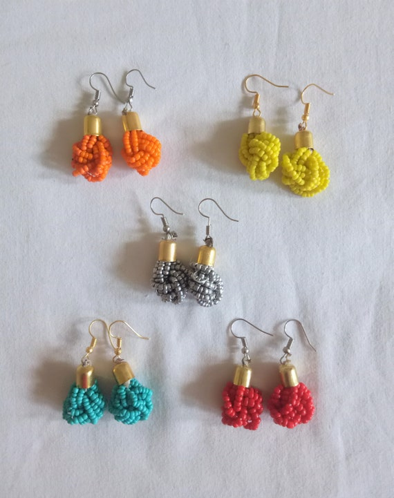 red earrings african earrings,earrings african jewelry,zulu jewelry,maasai earrings tribal earrings beaded earrings tribal earrings