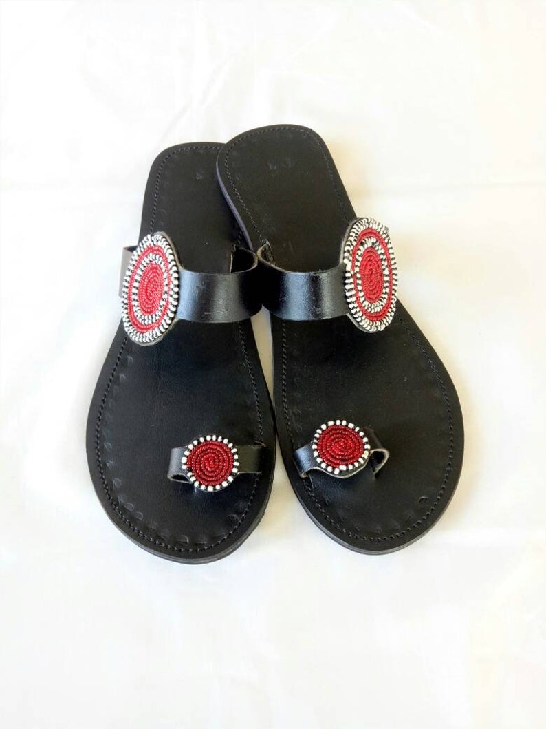 f4c05b4beb45 Leather sandals Multicolor sandals Maasai sandals Summer