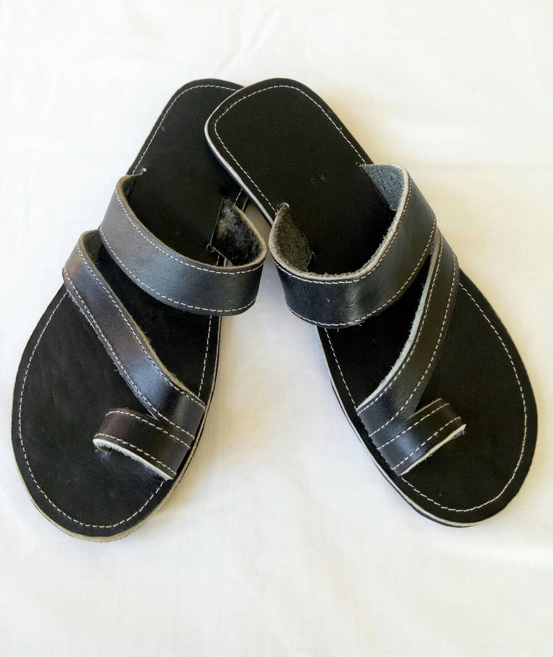 8f7aa5fa401286 Mens Leather sandals mens black sandals Maasai sandals mens