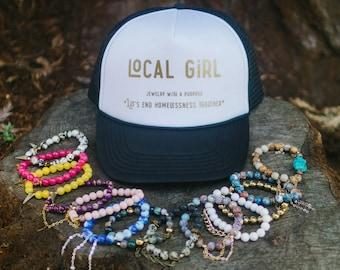 Trucker Hat - Women's Trucker Hat - Adjustable - Ladies Baseball Cap - Vacation - Beaches