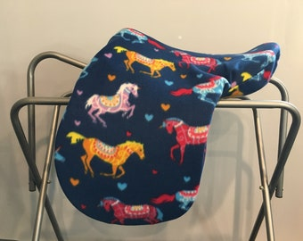 By BobbiGee's ENGLISH SADDLE COVER WITH CUSTOM EMBROIDERY Dressage