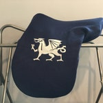 Welsh Dragon Custom Fleece Saddle Cover for Dressage, Jumping, All-Purpose, English Saddles
