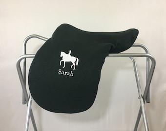 Dressage Horse Custom Fleece Saddle Cover for Dressage, Jumping, All-Purpose, English Saddles