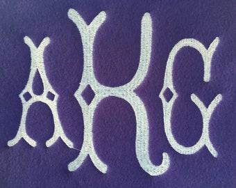 Fishtail Monogram Custom Fleece Saddle Cover for Dressage, Jumping, All-Purpose, English Saddles
