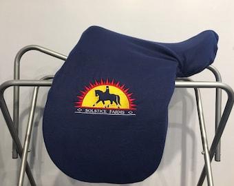 Your Logo Custom Fleece Saddle Cover for Dressage, Jumping, All-Purpose, English Saddles