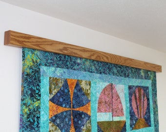 """26"""" to 32"""" inch Knob-less modern quilt wall hanger"""