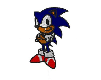 Sonic The Hedgehog Embroidered Iron Sew On Patch e671516faf6b
