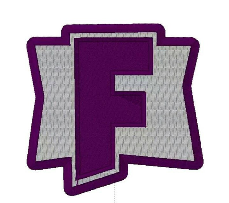 F Logo Embroidered Iron//Sew on Patch