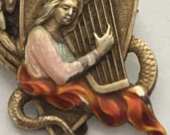 Mardi Gras Krewe of Proteus Romances Of Wales favor pin