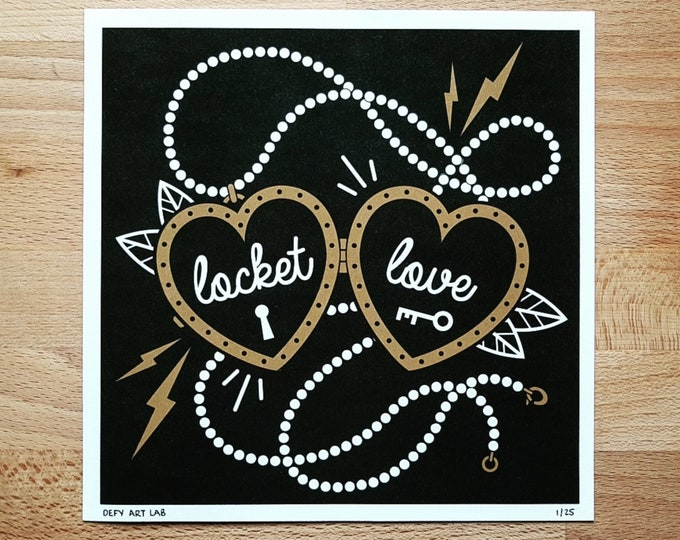 Ramones Inspired 'Locket Love' Digital Print