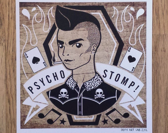 Johnny: Psychobilly Boy Digital Print