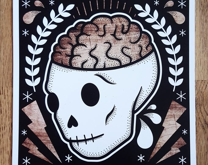 Open Your Mind: Skull Digital Art Print