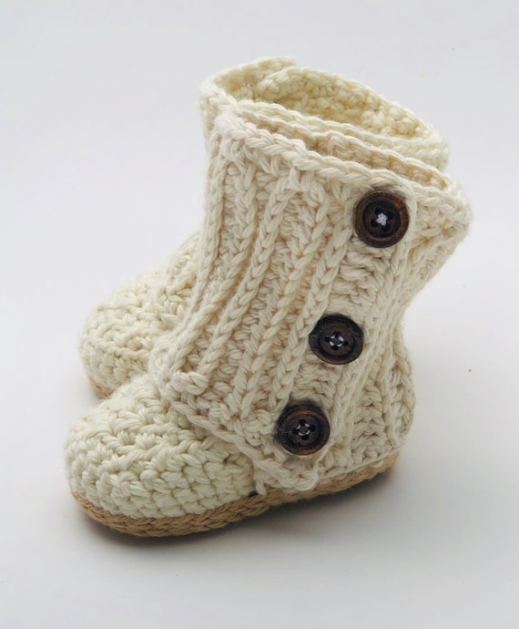 Baby Wrap Boots Baby Booties Crochet