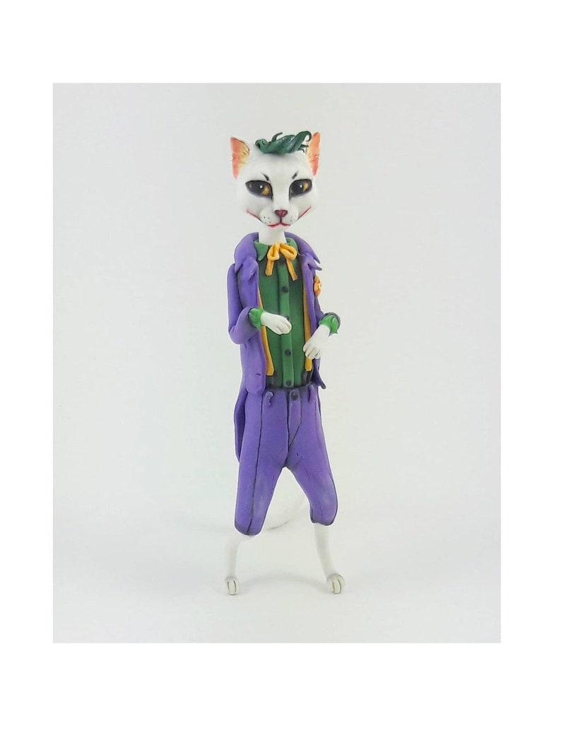 Joker Cat Figure Anime Cat Figurine Figure Funny Costume Joker