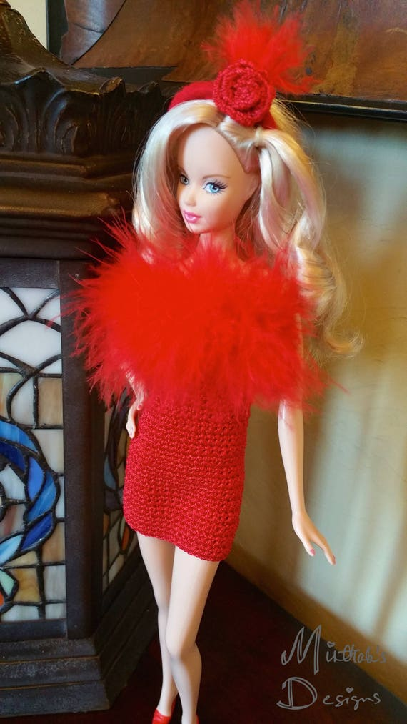 Barbie 2018 Fashionistas Red Pleather Front Skirt  CURVY TALL PETITE REGULAR