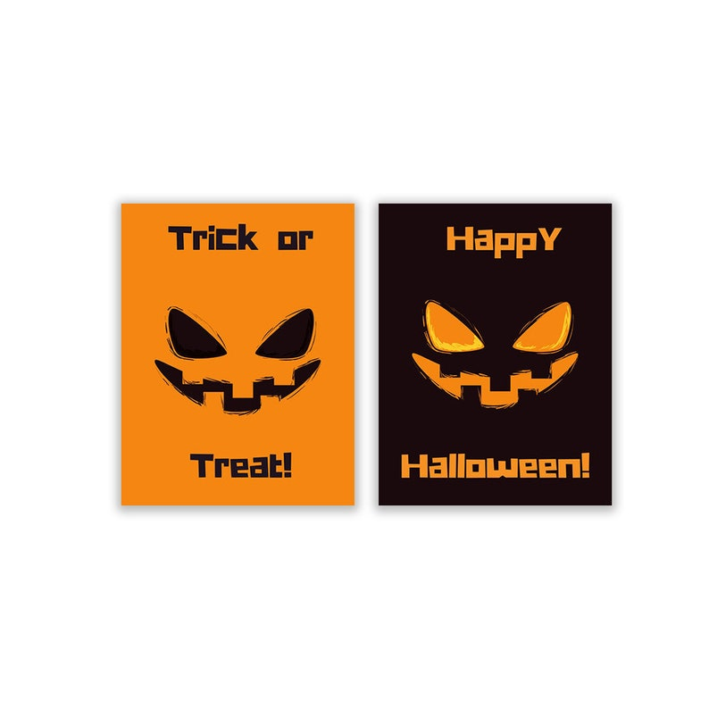 graphic about Halloween Printable Decorations referred to as Trick or Take care of Content Halloween Printables Immediate Down load Preset of 2 Prints Printable Social gathering Decorations Clroom Decor Electronic Down load