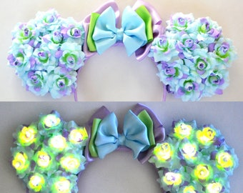 Light-Up Cool Pastel Floral Mouse Ears