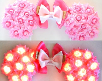 Light-Up Sleeping Princess Floral Mouse Ears