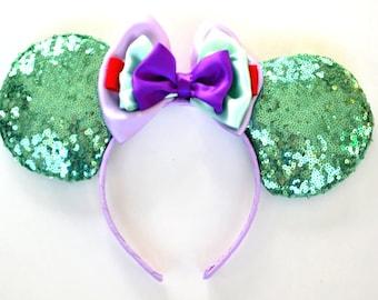 Mermaid Princess Sequin Mouse Ears