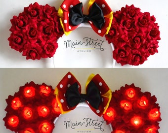 Light-Up Girl Mouse Floral Ears