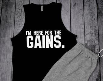Mens Workout Tank, Mens Gym Tank, Bodybuilding Tank, weight lifting tank top, Mens Tank, Mens Muscle Shirt, Gains Shirt, Mens Tank Top