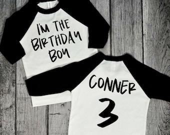 3 Year Old Birthday Shirts Boys 3rd Third Raglan Shirt For Three Olds