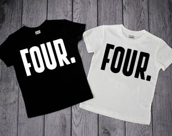 4th Birthday Shirt 4 Year Old Boy Four Boys Fourth