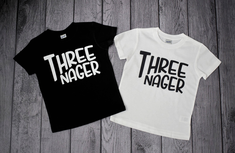 Threenager 3 Year Old Birthday Boy Shirt Boys 3rd