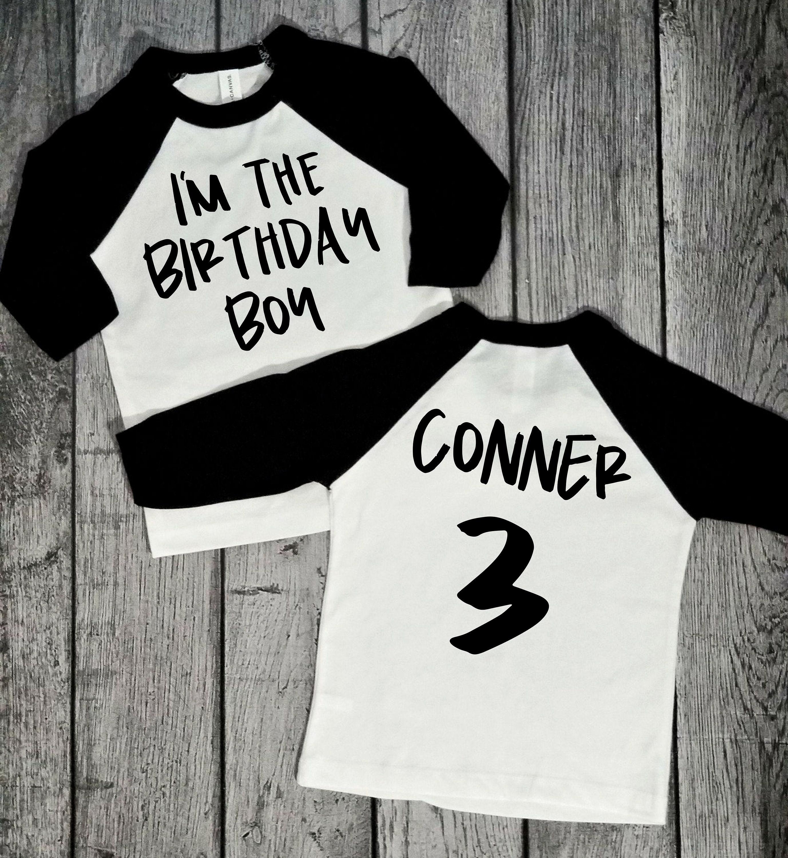 Birthday Boy Shirt 3rd Raglan