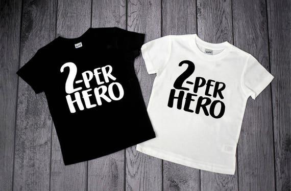 Superhero Two Superhero Birthday Shirt- Superhero Shirt 2nd Birthday Shirt Boy 2nd Birthday Shirt Boy Boys 2nd Birthday Two Shirt