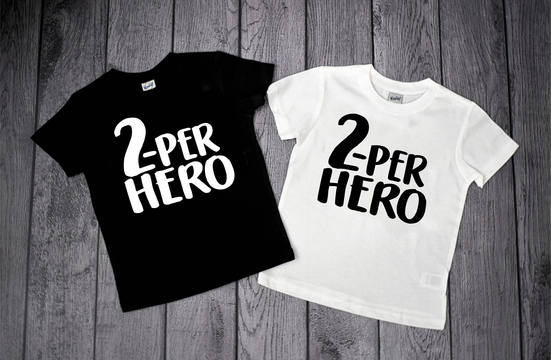 2nd Birthday Shirts 2 Year Old Super Hero