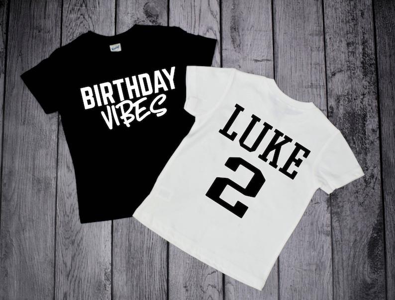 Birthday Shirts For Boys Vibes Kids Shirt