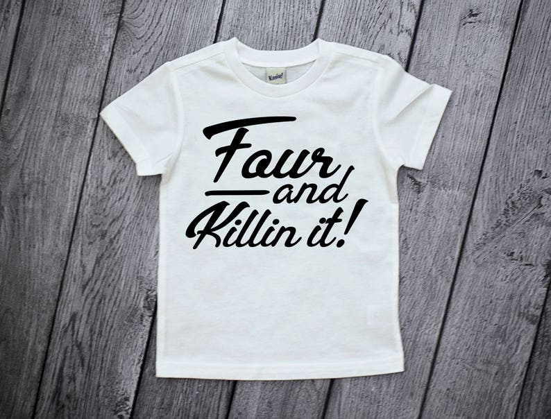 4th Birthday Shirt 4 Year Old Boy