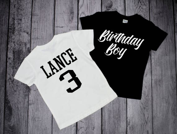 Birthday Boy Shirt Personalized For Any Age 3 Year Old