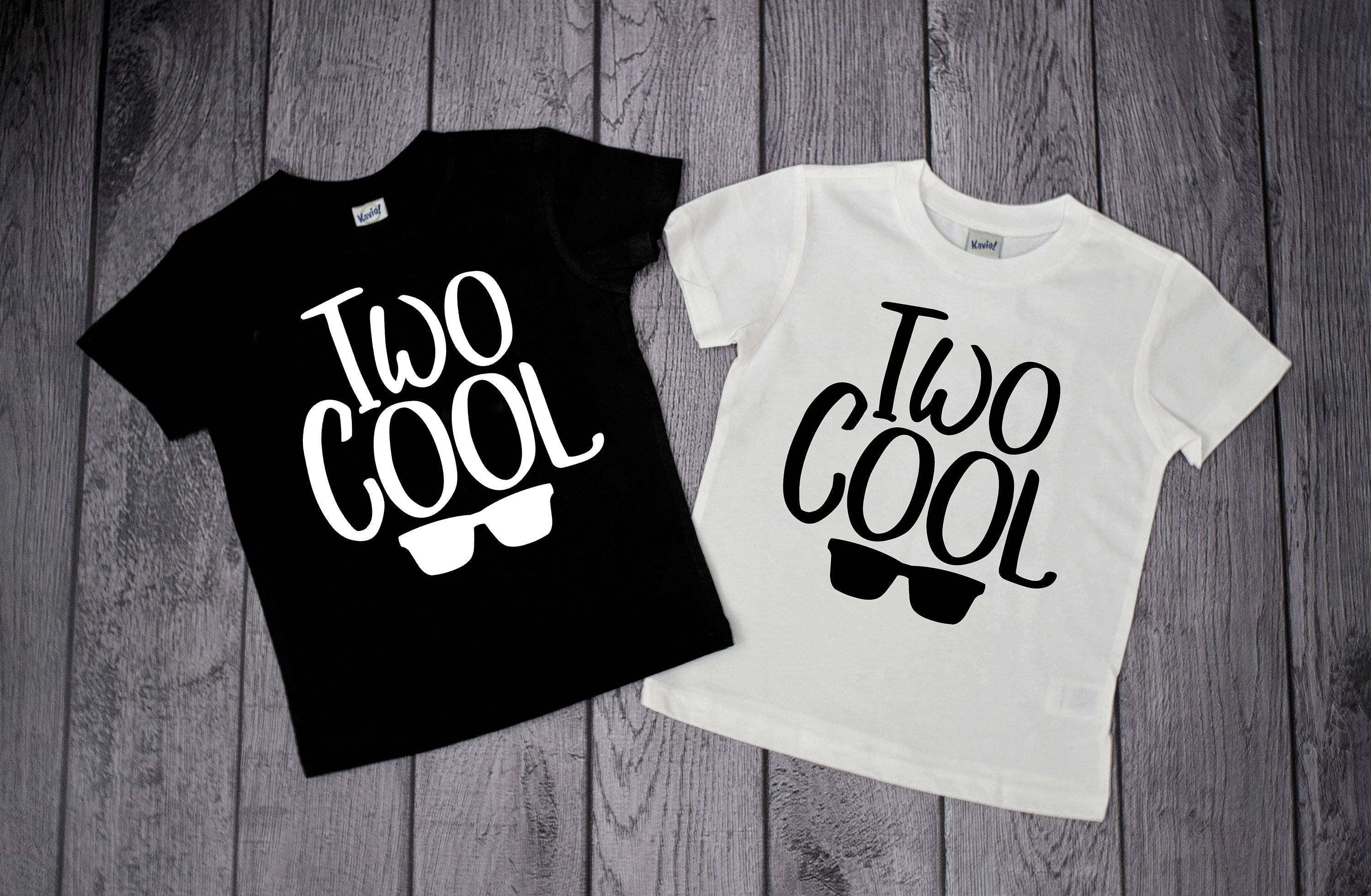 2 Year Old Birthday Shirts Two Cool Boys 2nd