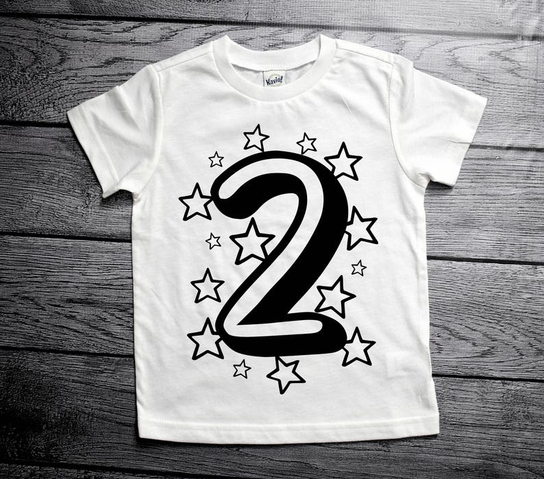 2nd Birthday T Shirt Shirts For 2 Year Olds Star
