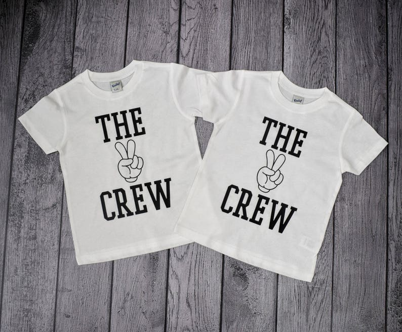 The 2 Crew 2nd Birthday Shirt Year Old Shirts Twin Boy