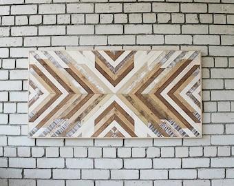 Wood wall panel art Geometric wood art Wall art wood Modern wood art Wood art panel Modern wood wall Wood wall art decor Reclaimed wood wall