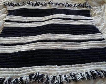 Striped baby afghan