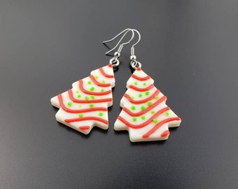 Christmas Tree Cake or Cookie Earrings, Holiday Comfort Food, 'Tis The Season