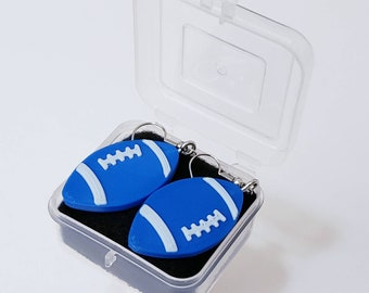 Blue UK Football Earrings University School Spirit College Kentucky and Duke