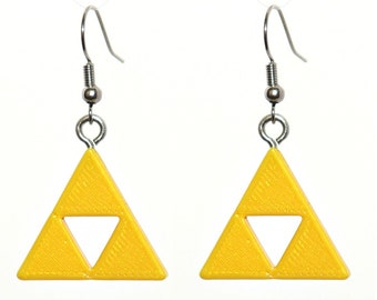 Zelda Cosplay Earrings Legend of Zelda Ocarina of Time Trinity Force Gift