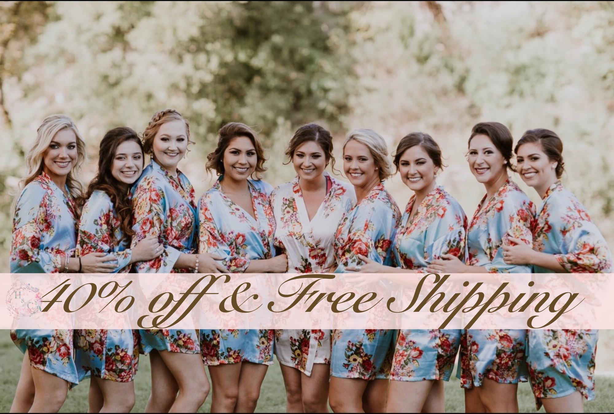 85749f4b0bc Bridesmaid Robes Bridesmaid Gifts Bridal party robe Satin
