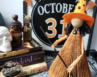 Sale!!! Book Witch, fall, Halloween, vintage Halloween, Halloween, books, book art, witch decor, primitive decor, Halloween home decor