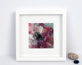 Limited Edition Photograph - Floral Wall Art - Purple Poppy - Frozen Still Life - Botanical Print - Ideal Gift