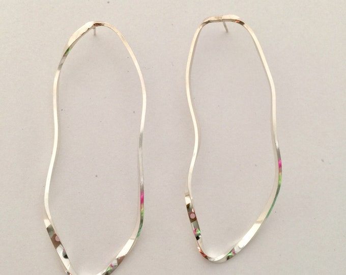 Mila Sterling Silver Long Drop Earrings